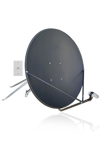 Complete Satellite TV Hardware Kit with 83cm Dish