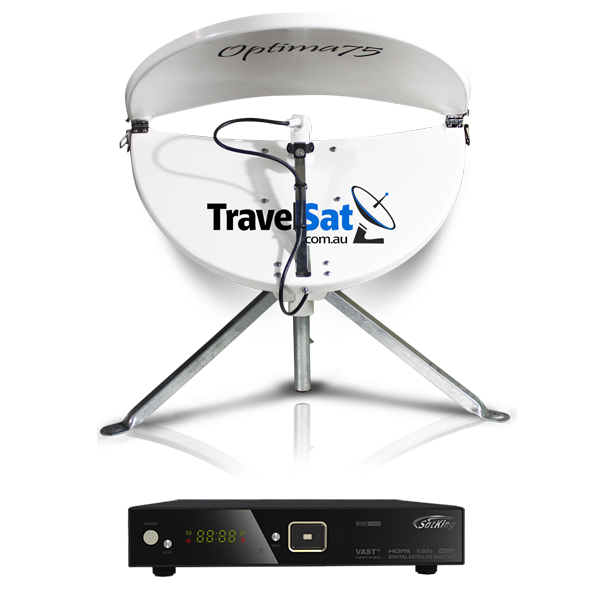 TravelSat Optima75-T Mobile VAST Satellite TV Kit (LITE)
