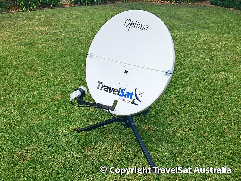 TravelSat Optima-T2 Portable Satellite TV Dish (fold-in-half)
