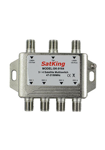 SatKing 3 in 4 out Multiswitch