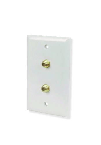 Twin F Type Wallplate